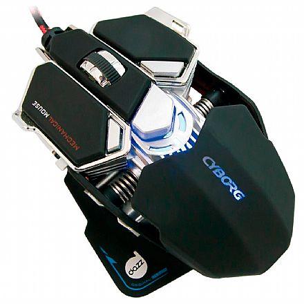 Mouse Gamer Dazz Cyborg - 4000dpi - 9 botões - USB - 622462