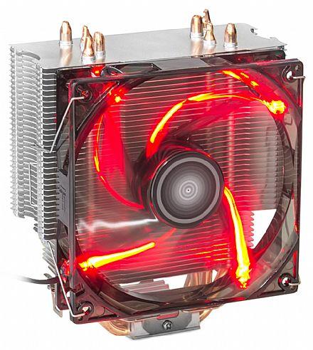 Cooler DEX DX-2011 (Intel / AMD) - LED Vermelho - 70.0 CFM