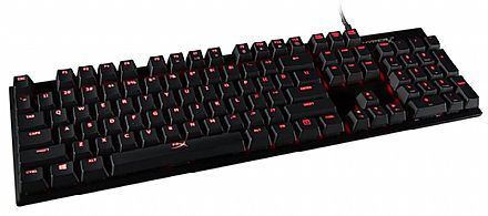 Teclado Mecânico HyperX Alloy FPS MX Red - Anti-Ghosting - LED Vermelho - Cabo Removível - HX-KB1RD1-NA/A4
