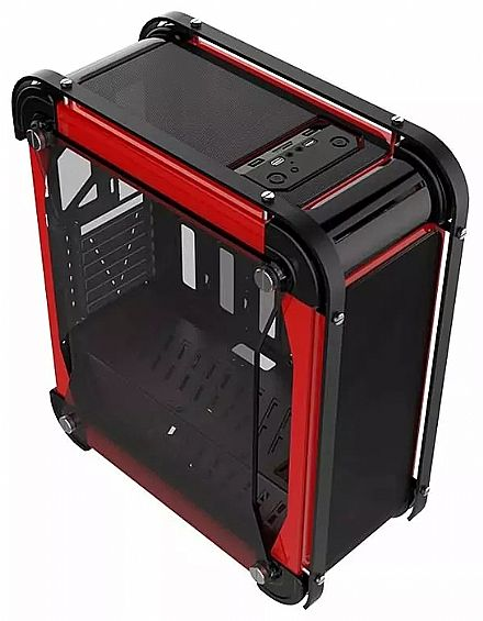 Gabinete X-Trike Gaming Volcano - Janela Lateral em Acrílico - USB 3.0 - Preto e Vermelho - G8 BK/RED