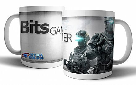 Caneca de porcelana - Bits Gamer Tom Clancy`s
