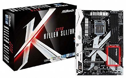AsRock Z270 Killer SLI/BR (LGA 1151 - DDR4 3733 O.C.) Chipset Intel Z270 - SLI/CrossFireX - Thunderbolt - Conector M.2 - Iluminação LED RGB