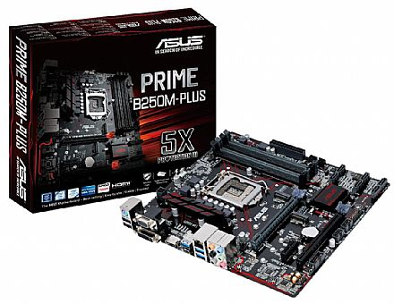 Asus Prime B250M-PLUS (LGA 1151 - DDR4 2400) Chipset Intel B250 - USB Type C - Slots M.2