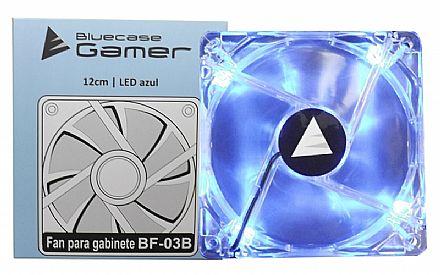 Cooler 120x120mm Bluecase - LED Azul - BF-03B