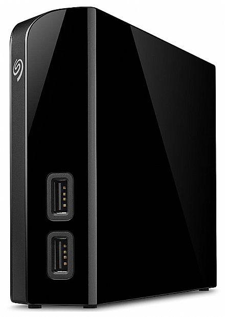 HD Externo 6TB Seagate Backup Plus HUB - USB 3.0 - Duas portas USB para Recarga e Backup - STEL6000100