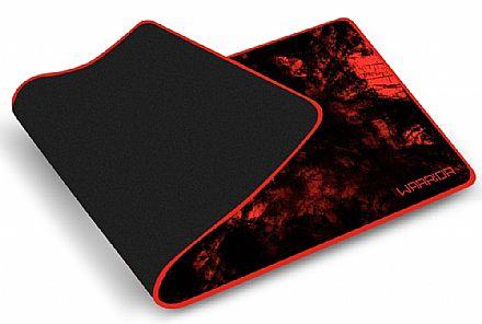 Mouse Pad Multilaser Warrior - para Teclado e Mouse - 700 x 300mm - Vermelho - AC301