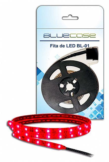 Fita de LED Bluecase - Vermelho - 80cm - BL-01R