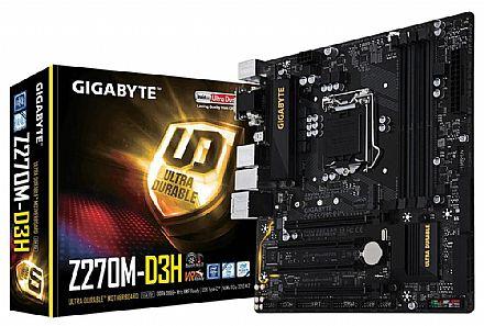 Gigabyte GA-Z270M-D3H (LGA 1151 DDR4 3866 O.C.) Chipset Z270 - USB 3.1 Type C - Slot M.2