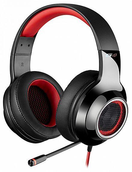 Headset Gamer Edifier G4 - 7.1 Canais - com Vibração e LED - Microfone retrátil - Vermelho