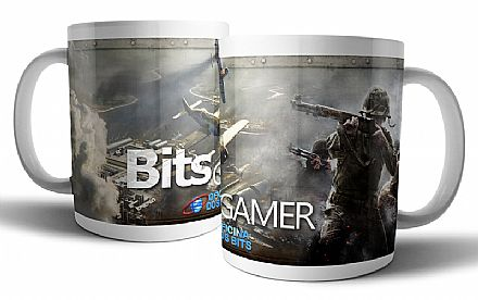 Caneca de porcelana - Bits Gamer Call of Duty