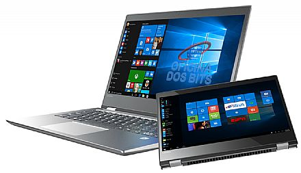 "Notebook Lenovo Yoga 520 2 em 1 - Tela 14"" HD Touchscreen, Intel i5 7200U, 16GB, HD 1TB, Leitor Biométrico, Windows 10 Pro - 80YM000BBR"