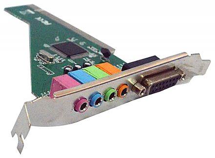 Placa de Som - 4 Canais - PCI - SK-CR4280 - PC0002