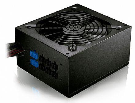 Fonte 650W C3 Tech PS-650 - Semi Modular - PFC Ativo - Eficiência 82% - 80 PLUS® Bronze