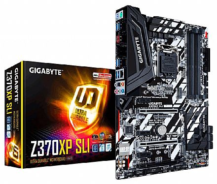 Gigabyte Z370XP SLI (LGA 1151 - DDR4 4000 O.C.) Chipset Intel Z370 - 8ª Geração Coffee Lake - USB 3.1 Type C - Slot M2