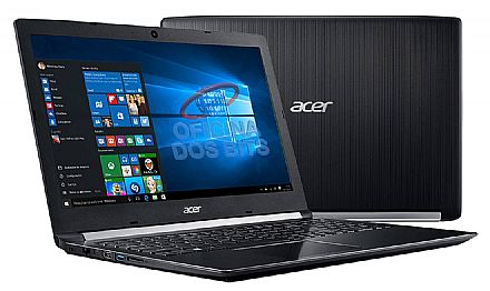 "Notebook Acer Aspire A515-51-51UX - Tela 15.6"" HD, Intel i5 7200U, 12GB DDR4, HD 1TB, Windows 10"