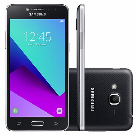 "Smartphone Samsung Galaxy J2 Prime - Tela 5"" HD, Quad Core, Câmera 8MP e Flash Frontal, 16GB, Dual Chip 4G - Preto - SM-G532M"