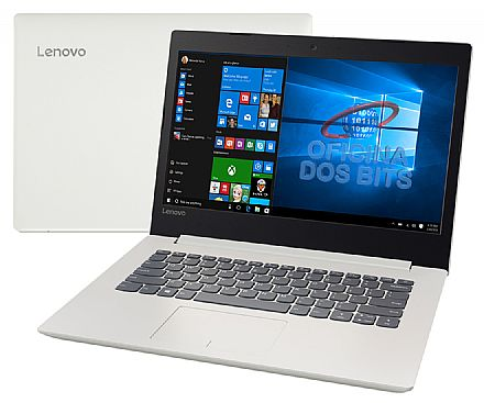 "Notebook Lenovo Ideapad 320 - Tela 14"" HD, Intel i3 6006U, 4GB DDR4, HD 1TB, Intel HD Graphics 520, Windows 10 - Branco - 80YF0008BR"