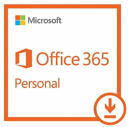 Office 365 Personal 2019 - Licença Anual para 1 usuário - 1 TB de Armazenamento One Drive - 1 PC ou Mac + 1 Tablet ou Smartphone - Versão Download - QQ2-00008