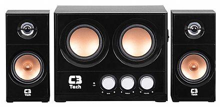 Caixa de Som 2.1 C3 Tech SP-225S - 15W RMS - sem Controle Remoto