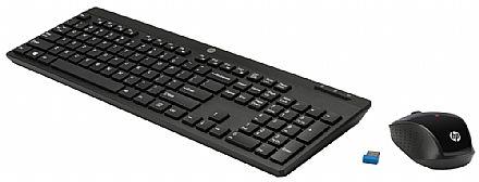 Kit Teclado e Mouse sem Fio HP C200 - ABNT2 - 1000dpi - 2.4Ghz - Preto - Z3Q63AA