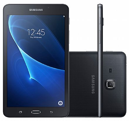 "Tablet Samsung Galaxy Tab A T285M - Tela 7"", Android, 8GB, Quad Core, Wi-Fi + 4G, Câmera 5MP - SM-T285M - Preto"