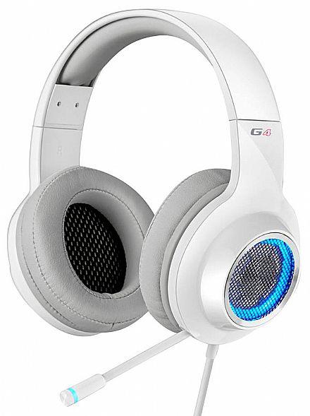 Headset Gamer Edifier G4 - 7.1 Canais - com Vibração e LED - Microfone retrátil - Branco