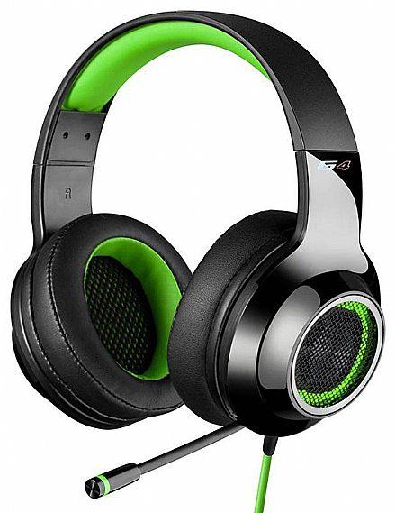 Headset Gamer Edifier G4 - 7.1 Canais - com Vibração e LED - Microfone retrátil - Verde