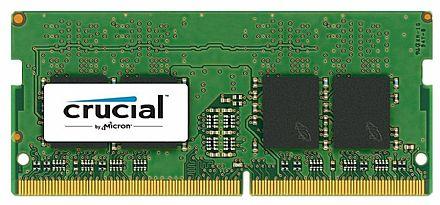 Memória SODIMM 16GB DDR4 2400MHz Crucial - para Notebook - 1.2V - CL17 - CT16G4SFD824A