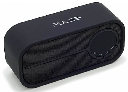 Caixa de Som Portátil Pulse Multilaser SP206 Colors Series - Bluetooth - 10W RMS - Preto