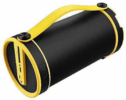 Caixa de Som Portátil Pulse Multilaser SP222 Bazooka - Bluetooth - 20W RMS - Preto e Amarelo