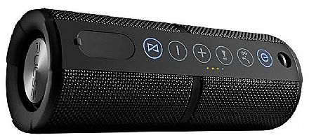 Caixa de Som Portátil Pulse Multilaser SP245 - Waterproof - Bluetooth - 15W - com Função Atender Chamada - Preto