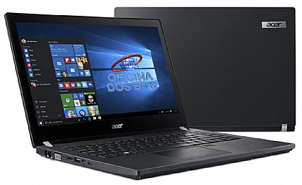 "Acer TravelMate P4 TMP449-G2-M-317Q - Tela 14"" HD, Intel i3 7100U, 4GB DDR4, HD 1TB, Leitor de Digital, Leitor SmartCard, Windows 10 Professional"