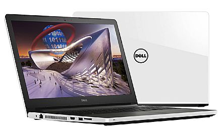 "Notebook Dell Inspiron i15-5566-A70B - Tela 15.6"" HD, Intel i7 7500U, 16GB, HD 1TB, Video Radeon R7 M440 2GB, Windows 10 - Branco"