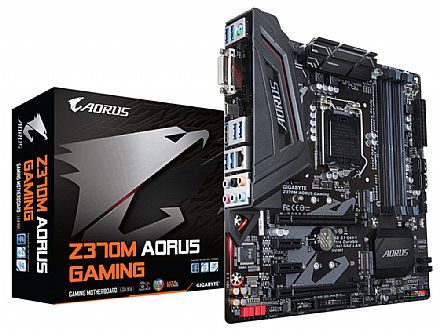 Gigabyte Z370M AORUS GAMING (LGA 1151 - DDR4 4000 O.C.) Chipset Intel Z370 - 8ª Geração Coffee Lake - USB 3.1 Type C - Slots M.2