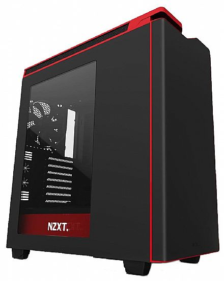 Gabinete NZXT H440 - Janela Lateral em Acrílico - USB 3.0 - Preto e Vermelho - CA-H442W-M1