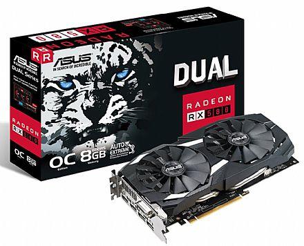 AMD Radeon RX 580 8GB GDDR5 256bits - Dual - Asus 90YV0AQ1-M0NA00