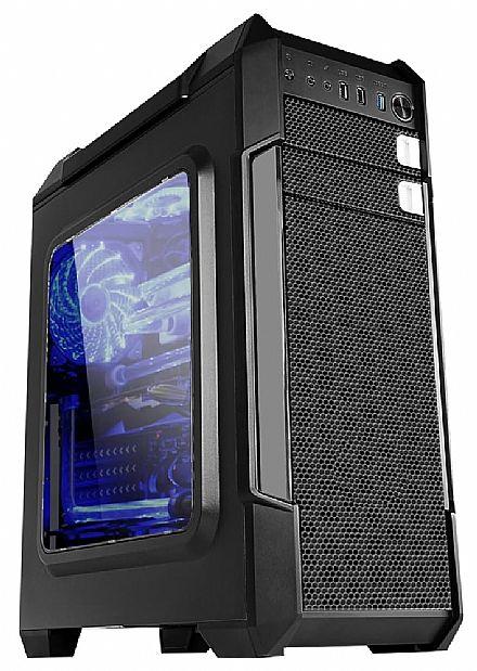 Gabinete X-Trike Gaming Warrior - Janela Lateral em Acrílico - USB 3.0 - LED Azul - X03