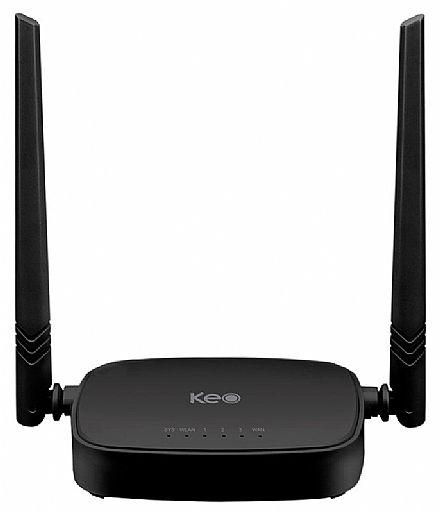 Roteador Wi-Fi Keo KLR-300N - 300Mbps - 2 Antenas de 5dBi