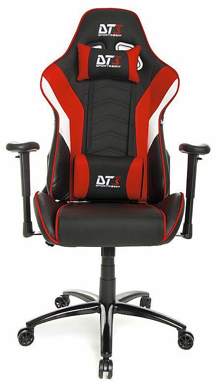 Cadeira Gamer DT3 Sports Elise Red - Encosto Reclinável de 180º - Construção em Aço - 10637-7