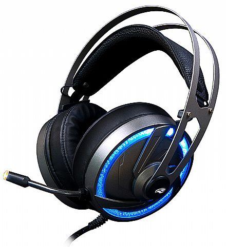 Headset Gamer C3Tech GoShawk - LED RGB - com Controle de Volume - USB - PH-G300SI C3T