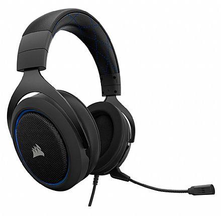 Headset Corsair Gaming HS50 - com Controle de Volume - Blue - CA-9011172-NA