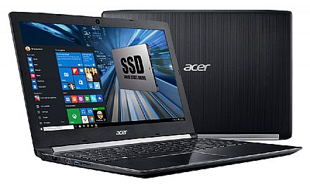 "Acer Aspire A515-51-51UX - Tela 15.6"" HD, Intel i5 7200U, 12GB DDR4, SSD 480GB, Windows 10"
