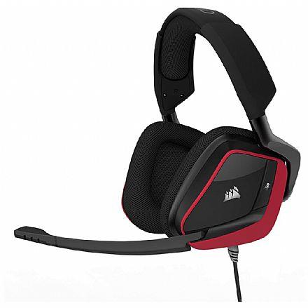 Headset Gamer Corsair Void PRO RGB Surround CA-9011157-NA - USB - Dolby 7.1 - com Cancelamento de Ruidos - Vermelho