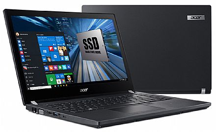 "Acer TravelMate P4 TMP449-G2-M-513D - Tela 14"" HD, Intel i5 7200U, 8GB DDR4, SSD 240GB, Leitor de Digital, Leitor SmartCard, Windows 10 Professional"