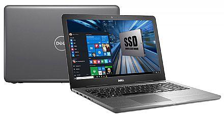 """Dell Inspiron i15-5567-N20C - Tela 15.6"""" HD, Intel i5 7200U, 8GB, SSD 240GB, DVD, Intel HD Graphics 620, Windows 10 - Cinza - Garantia 1 ano - Outlet"""