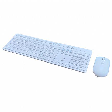 Kit Teclado e Mouse sem Fio Dell KM636 Wireless - ABNT2 - Branco - KM636-WH-BPOR