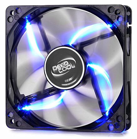 Cooler 120x120mm Deepcool Wind Blade - LED Azul - DP-FLED-WB120