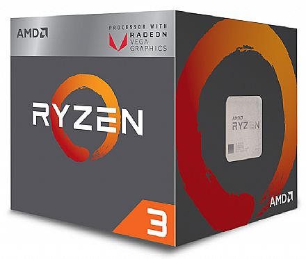 AMD Ryzen™ 5 3400G Quad Core - 8 Threads - 3.7GHz (Turbo 4.2GHz) - Cache 6MB - AM4 - TDP 65W - Radeon™ VEGA Graphics - YD3400C5FHBOX