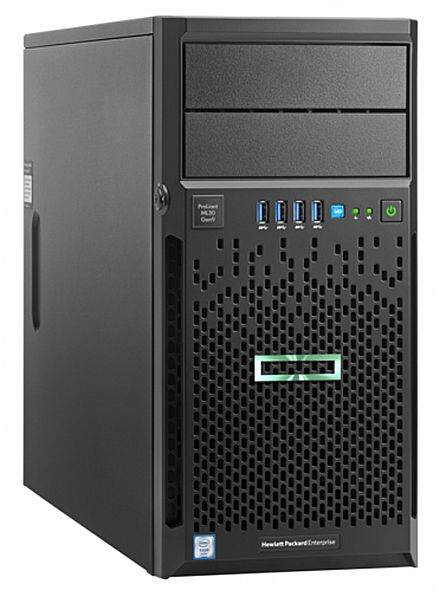 Servidor HP Proliant ML30 Gen9 - Intel Xeon® E3-1220V6, 8GB DDR4, HD 1TB, Dual LAN, DVD-RW, Kit Teclado e Mouse - 873227-S05