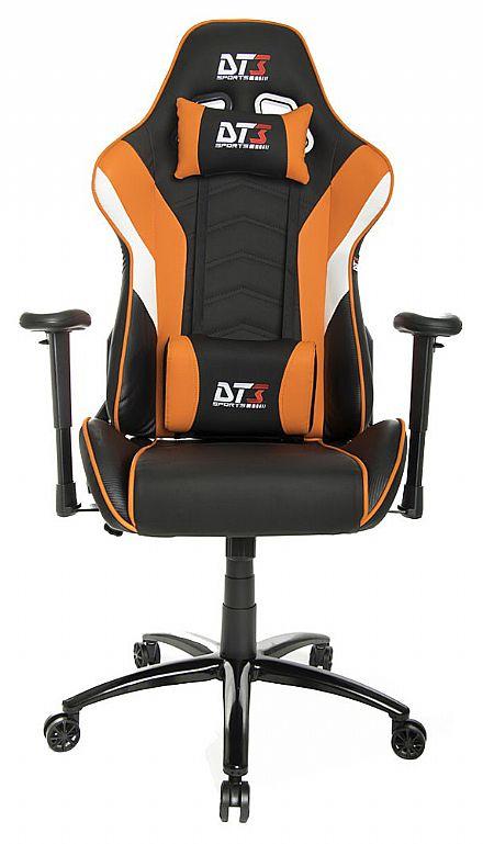 Cadeira Gamer DT3 Sports Elise Orange - Encosto Reclinável de 180º - Construção em Aço - 10636-6